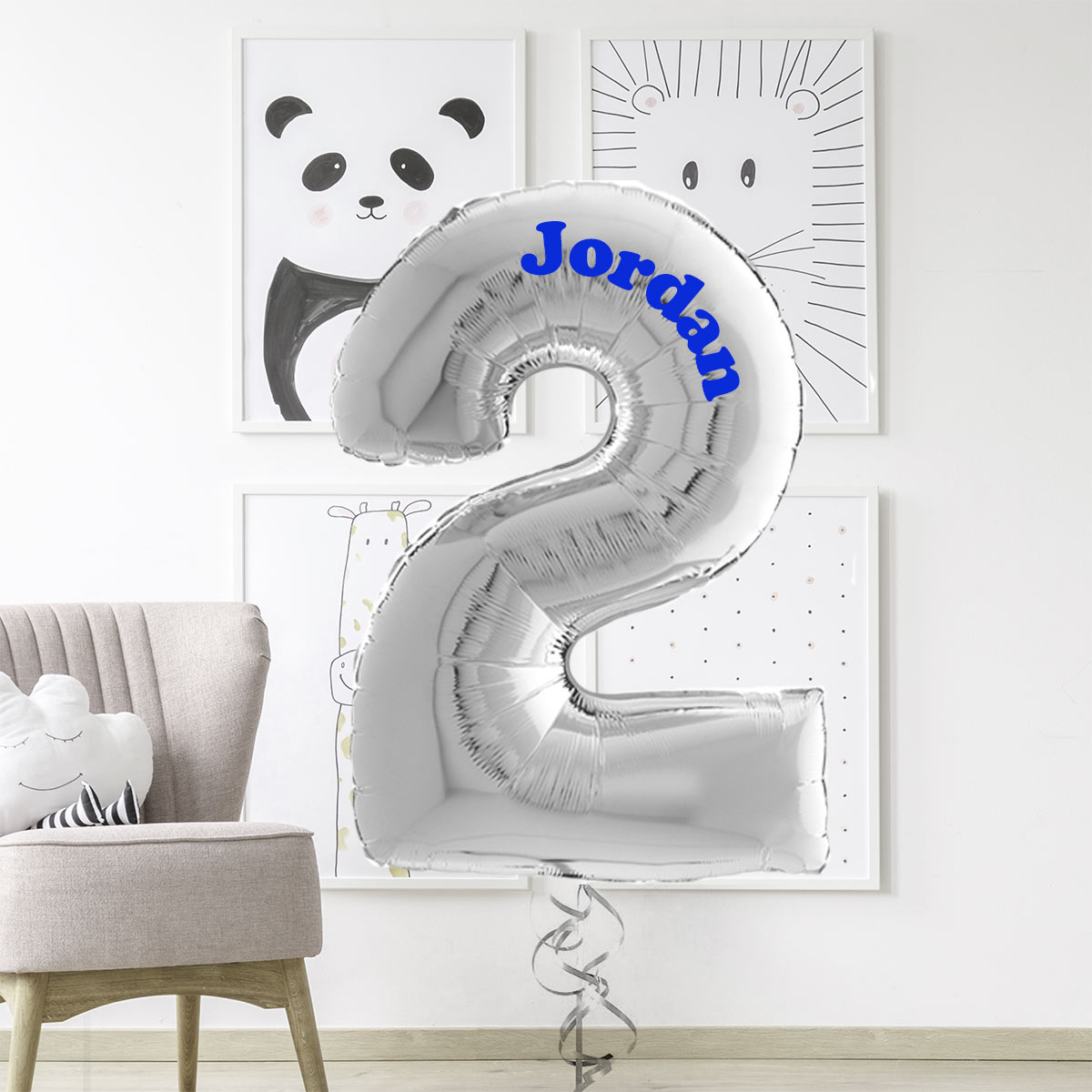 Personalised Number 2 Foil Balloon