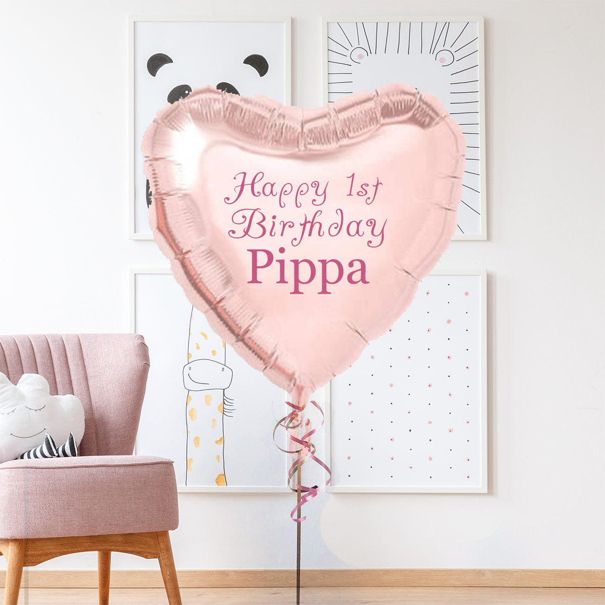 Personalised 1st Birthday Foil Balloon