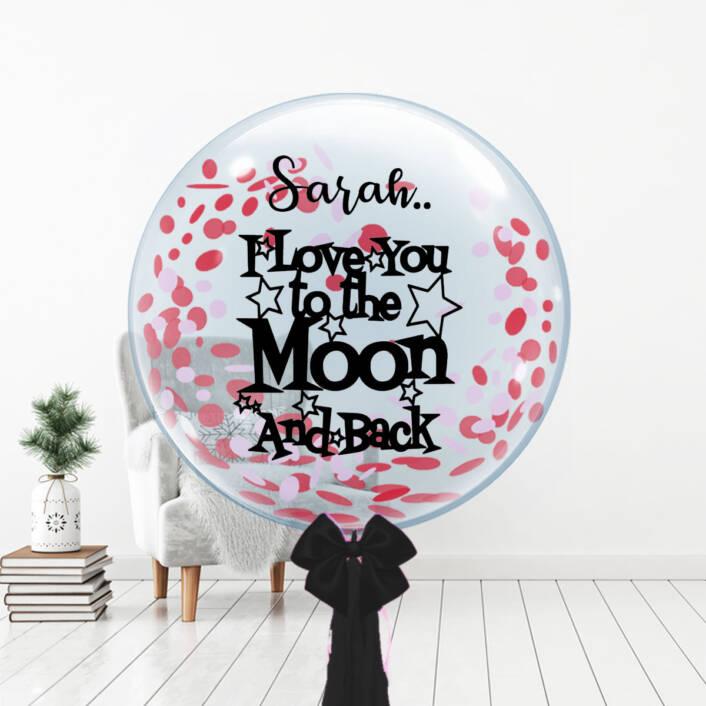 Moon & Back Bubble